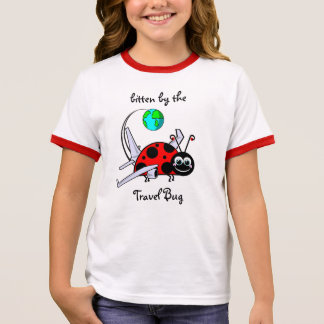Bitten By The Travel Bug - Ladybug Airplane Ringer T-Shirt