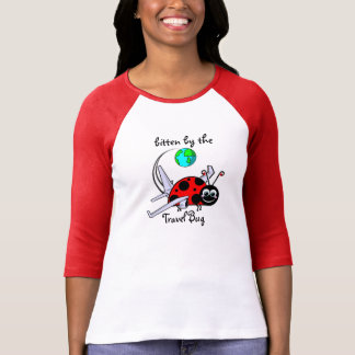 Bitten By The Travel Bug - Ladybug Airplane T-Shirt