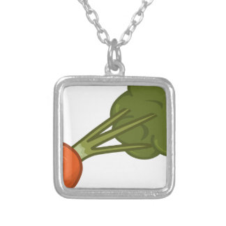 Bitten Carrot Silver Plated Necklace
