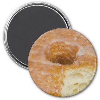 Bitten Sugar-Glazed Doughnut 3 Inch Round Magnet