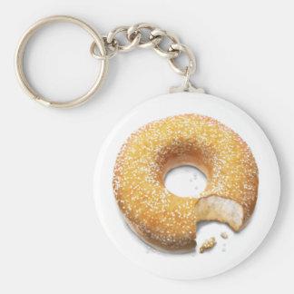Bitten Sugared Doughnut/Donut Keychain