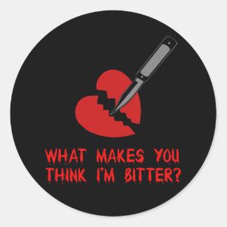 Bitter Anti-Valentine Classic Round Sticker