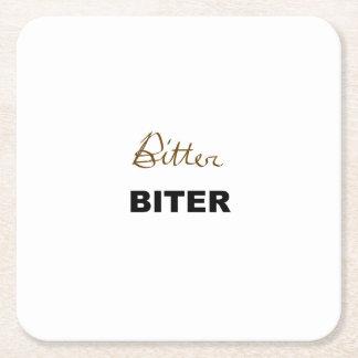Bitter Biter Square Paper Coaster