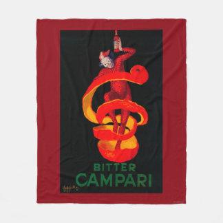 Bitter Campari Vintage PosterEurope Fleece Blanket