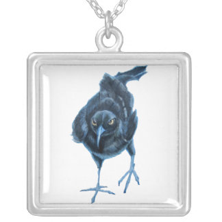 bitter grackle silver plated necklace
