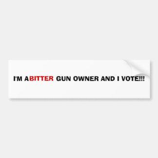 BITTER GUN OWNER BUMPER STICKER