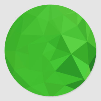 Bitter Lemon Green Abstract Low Polygon Background Classic Round Sticker