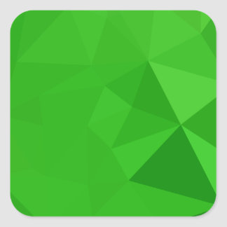 Bitter Lemon Green Abstract Low Polygon Background Square Sticker