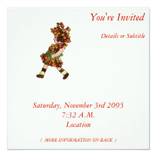 "Bitter-Sweet 5.25"" Square Invitation Card"