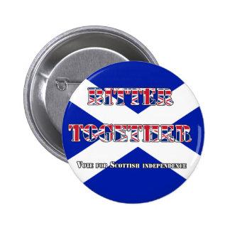 Bitter Together Scottish Independence Button Badge