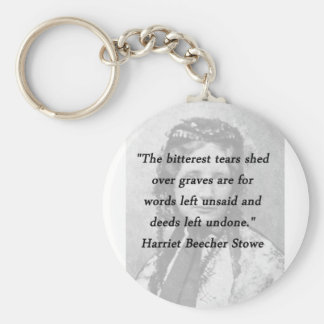 Bitterest of Tears - Harriet Beecher Stowe Basic Round Button Keychain