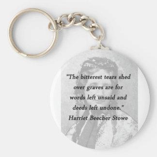 Bitterest of Tears - Harriet Beecher Stowe Keychain