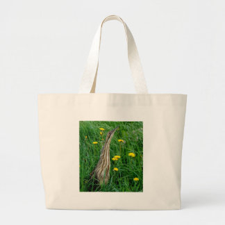 Bittern, northern Ontario water bird Large Tote Bag