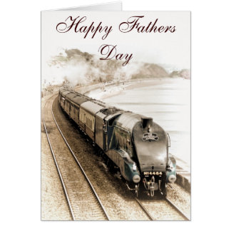 BITTERN STEAM TRAIN FATHERS DAY CARD