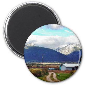 Bitterroot Mountains Parents Farm Magnet
