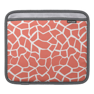 Bittersweet Color Giraffe Animal Print Sleeves For iPads