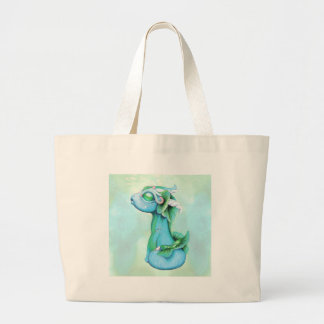 Bitty Water Dragon Large Tote Bag