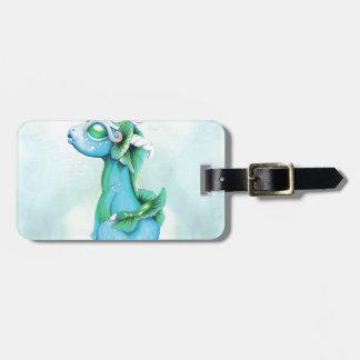 Bitty Water Dragon Luggage Tag