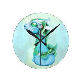 Bitty Water Dragon Round Clock