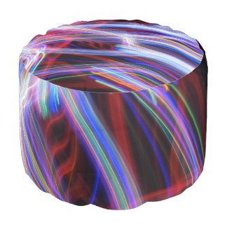 Bivrost Round Pouf by Artist C.L. Brown