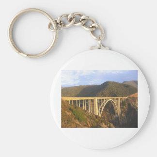Bixby Bridge Basic Round Button Keychain