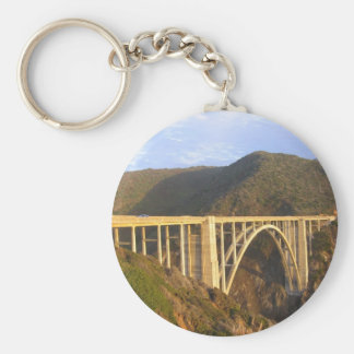 Bixby Bridge Basic Round Button Keychain