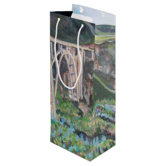Bixby Bridge - Custom Gift Bag - Wine, Glossy