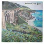 "Bixby Bridge - Large (6"" X 6"") Ceramic Photo Tile"