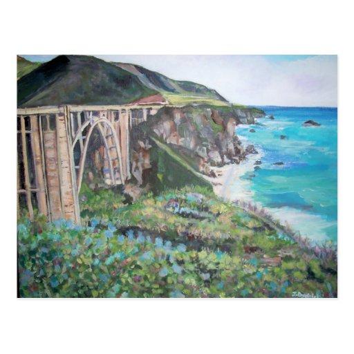 Bixby Creek Bridge - Postcard