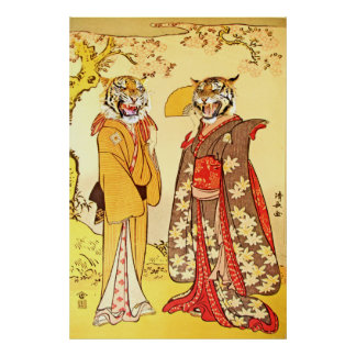 Bizarre and Beautiful Tiger Man and Wife Posters