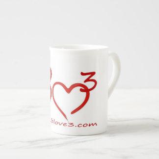 Bizarre Love Triangle Bone China coffee cup