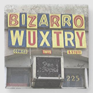 Bizarro Wuxtry,Athens, Ga, Marble Stone Coaster. Stone Coaster