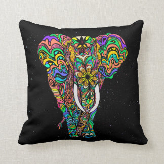 #Bizzartino Cosmic elephant love by Throw Pillow
