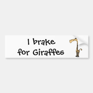 BJ- Funny Sad Giraffe Bumper Sticker