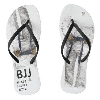 BJJ Black Belt Flip Flops