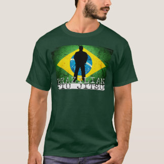 BJJ Brazilian Jiu Jitsu - Brazilian Flag Icon T T-Shirt