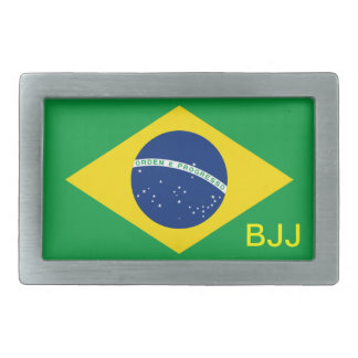 BJJ, Brazilian Jiu-Jitsu Rectangular Belt Buckle