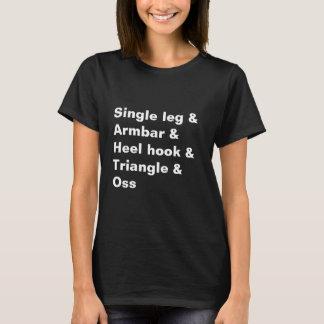 BJJ Jiu Jitsu Single Leg Armbar Black Shirt