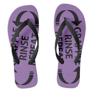 BJJ Ranked sandals (Purple belt)