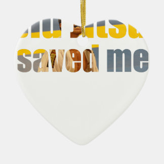 BJJ Saved Me Ceramic Ornament