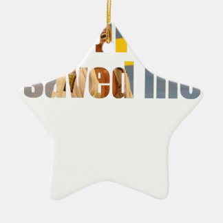 BJJ Saved Me Ceramic Star Ornament