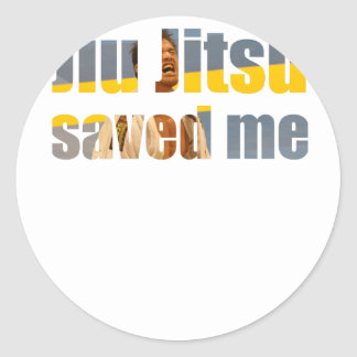 BJJ Saved Me Classic Round Sticker