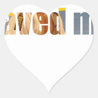 BJJ Saved Me Heart Sticker