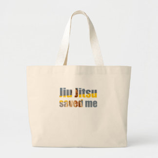 BJJ Saved Me Large Tote Bag