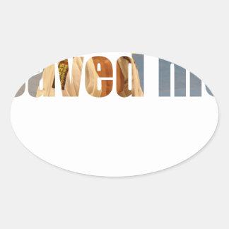 BJJ Saved Me Oval Sticker