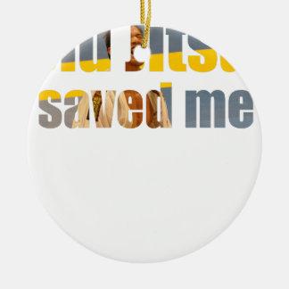 BJJ Saved Me Round Ceramic Ornament