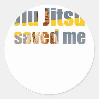 BJJ Saved Me Round Sticker