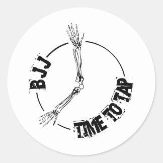 BJJ - Time to Tap Round Sticker
