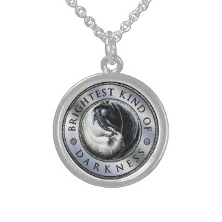 BKoD Medallion Raven Necklace in Sterling Silver