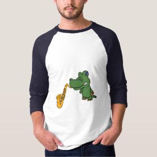 BL- Funny Gator and Saxophone Shirt